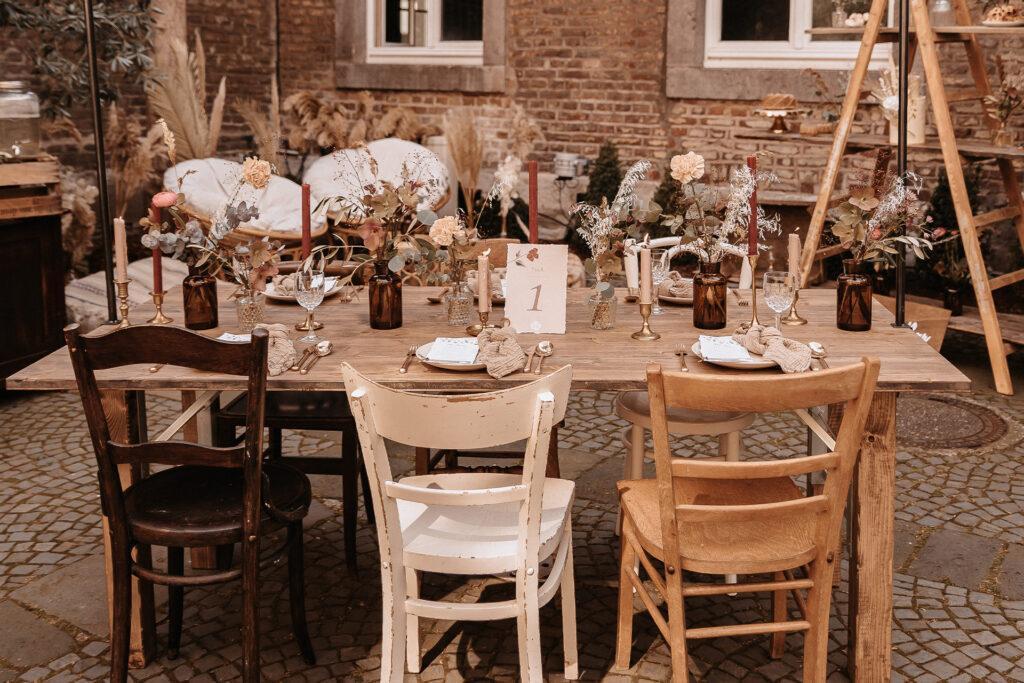 Tischpapeterie Hochzeitstag